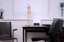 The Osteopath's consultation table