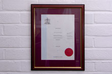 Bachelor of Science in Osteopathy Certificate.