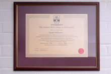 General Osteopathic Council Certificate.