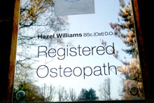 The Osteopath plaque