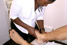 Osteopathy can treat a variety of sports related injuries.